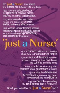 I'm just a nurse Poem